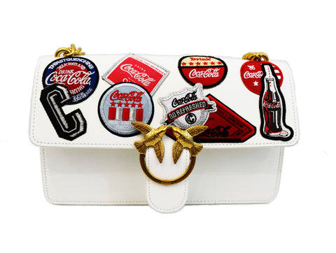 Pinko Coca Cola Love Caramella Embroidered Bag
