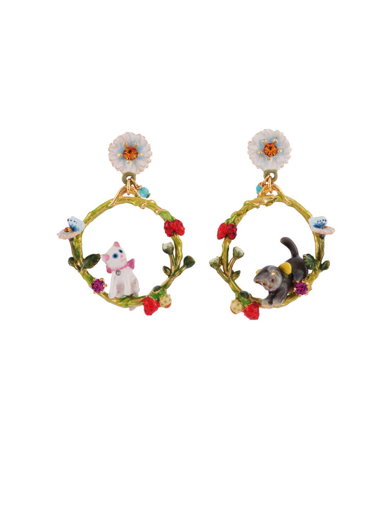 Les Nereides Little Cats Hoop Earring
