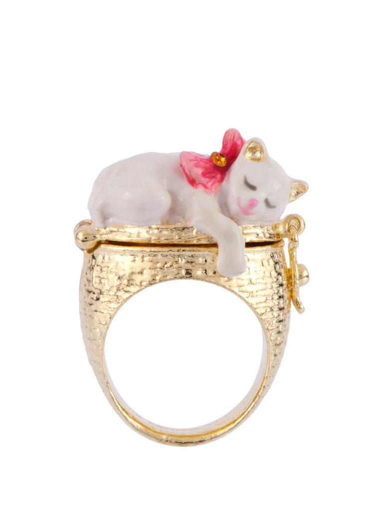 Les Nereides Little Cats Secret Ring