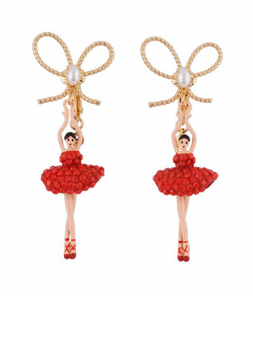 Les Nereides Pas De Deux Orange Earrings