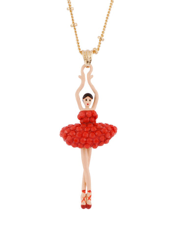 Les Nereides Luxury Pas De Deux Orange Necklace