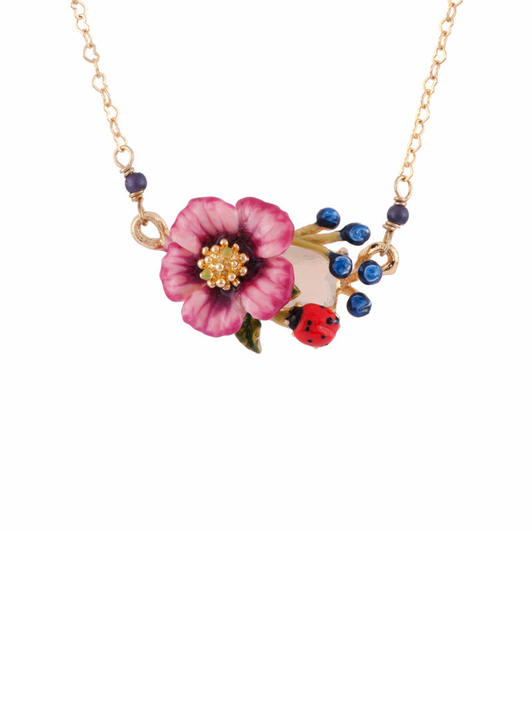 Nereides Oriental Rose Ladybirds and Berries Necklace