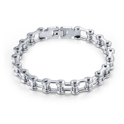 Stainless-Steel Bike/Motorcycle Chain Bracelet