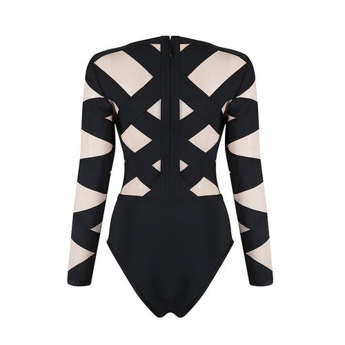 ALEXA MESH CROSS BODYSUIT