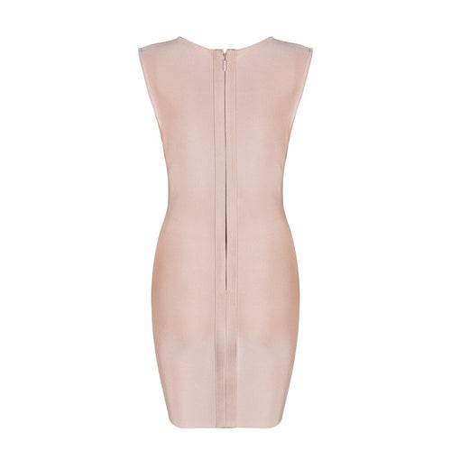 DARIA BLUSH BANDAGE DRESS