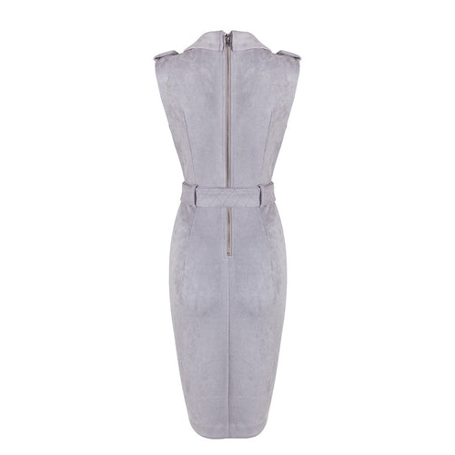 CELINE GRAY SUEDE DRESS