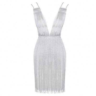 AMILIA WHITE FRINGE DRESS