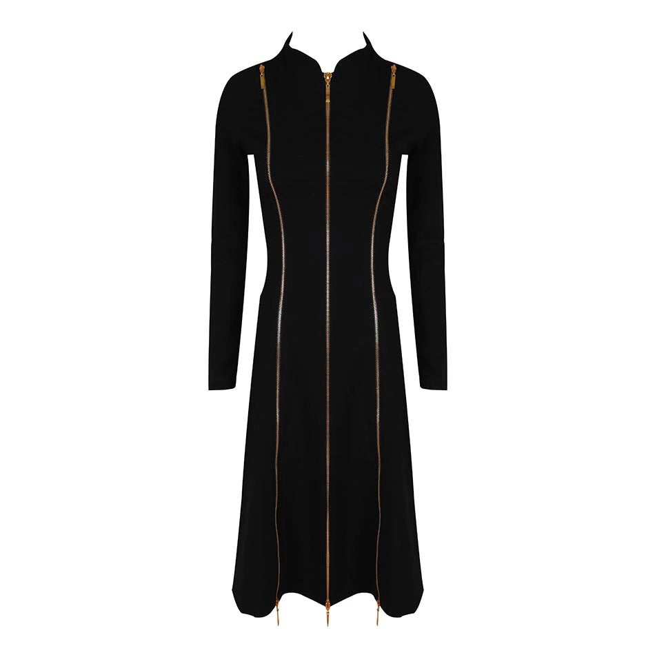 ZYA MULTI ZIP DRESS