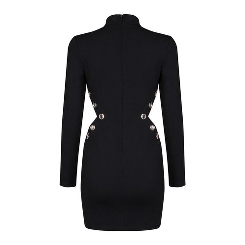 ANDREA BLACK BODYCON DRESS
