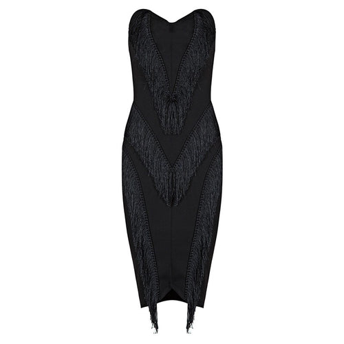 ETTA FRINGE BODYCON DRESS