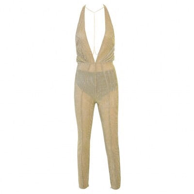 ARIANA GOLD SHEER JUMPSUIT