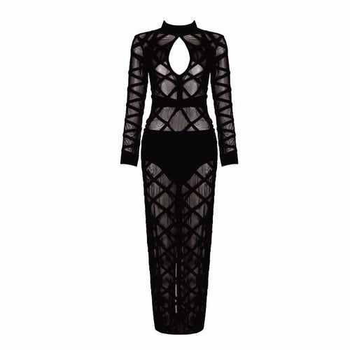 ROZAL CROSS UP MESH DRESS
