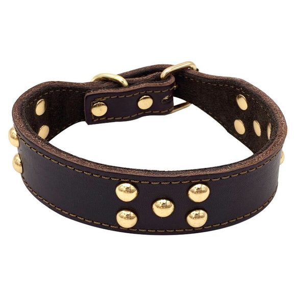 Genuine Leather Dog Collar Rivets