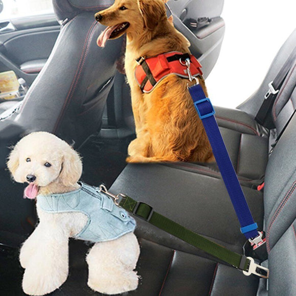 Adjustable Dog and Cat Lead Leash with Car Buckle