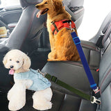 Adjustable Pet Lead Leash with Car Buckle for Dogs & Cats