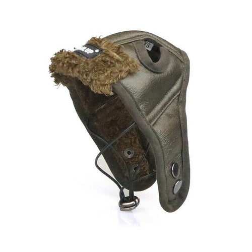 Warm Leather Pilot Dog Hat