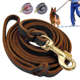 Genuine Leather Dog Tracking Lead Leashes