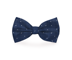 """Moon & Stars"" Dog Bow Tie"