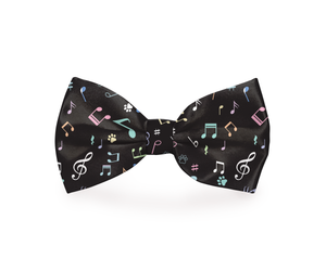"""Music Note Puppy Paw"" Dog Bow Tie"