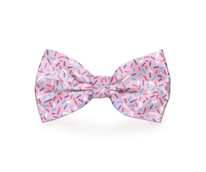 """Pink Sprinkles"" Dog Bow Tie"
