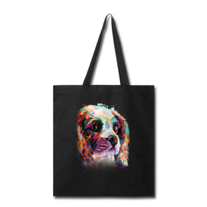 Hand painted cavalier Tote Bag