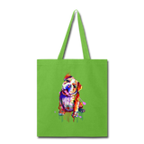 Hand painted Bull-Dog Tote Bag