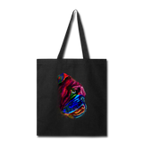 Hand Painted Bull Dog-Tote Bag