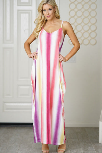 Multi Colored Maxi - Cynt's Fashions Boutique