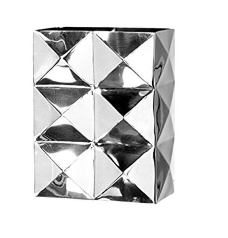 Dimension stainless steel rectangle vase