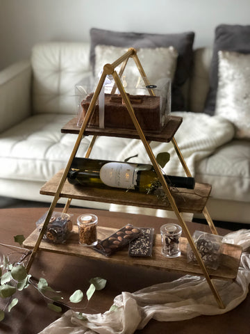 19. 3 tier wood stand