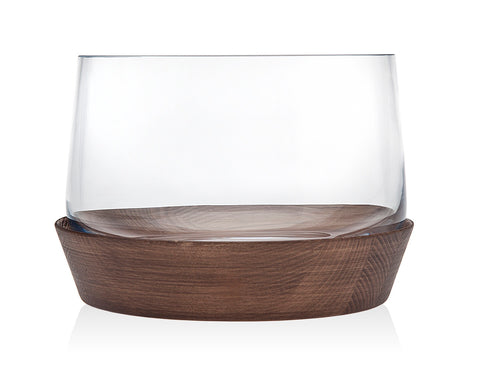 Wood base salad bowl