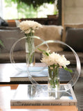 Acrylic circle orb vases
