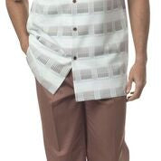 brown\white walking suit 50% off