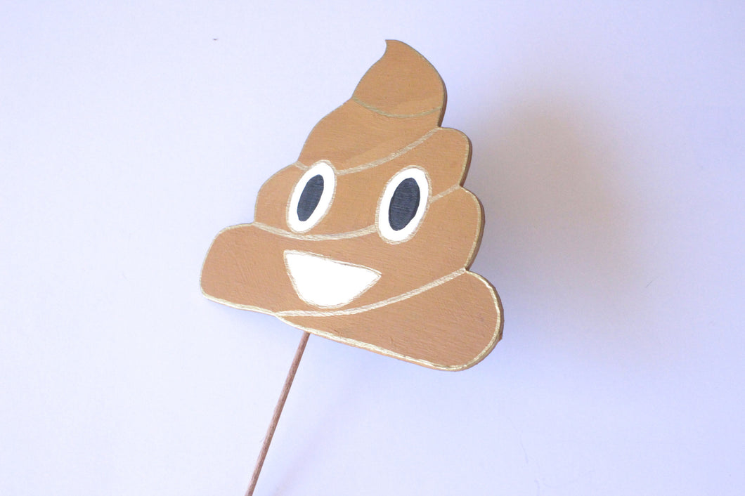 Pile of Poo Emoji Wooden Photo Booth Prop