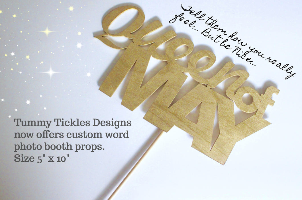 Custom Word Photo Booth Props