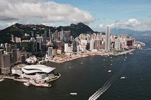 Aerial View of Victoria Harbour, Central, Hong Kong