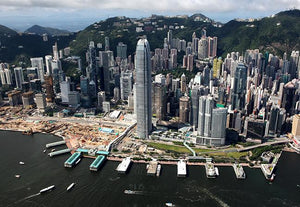 Aerial View of Central Ferry Piers and IFC, 2008