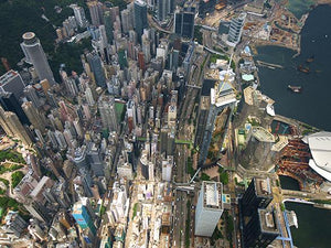 Aerial of Wan Chai and Admiralty 2008