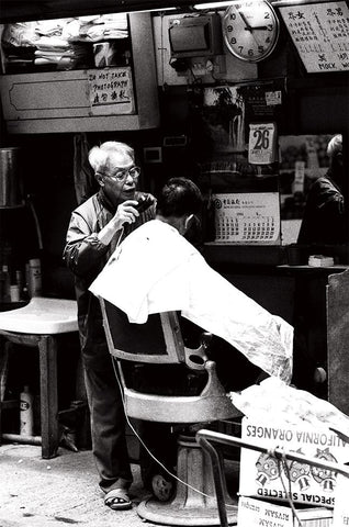 Street Cut Barber shop, Central, Hong Kong