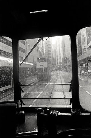 Tram on a rainy day, Hong Kong