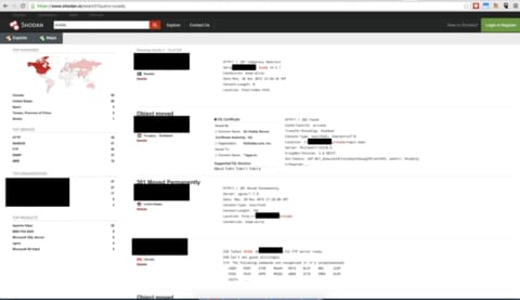 Shodan search - IoT security