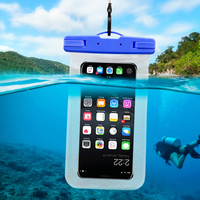 super popular 9a661 bc435 2019 swimming bag mobile phone waterproof bag for iphone x 6plus 7 8P all  models 6.1 inch universal with lanyard sport bag