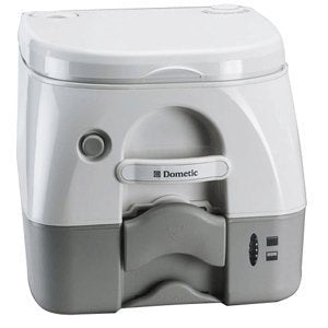 Dometic Sanitation Dometic Sealand 974 Msd Portable Toilet 2.6 Gallon Grey W/Brackets