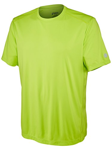Asics Mens Contour Short Sleeve, Energy Green, Small