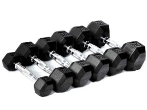 CFF Rubber Hex Dumbbell- 70lbs - (Single Dumbbell)