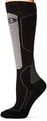 Icebreaker Women's Ski+ Lite OTC Socks (Oil/Black/Silver, Large)