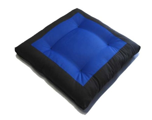 Center Blue Zabuton, Yoga, Meditation Seat Cushions, Kneeling, Sitting, Supporting Exercise Pratice
