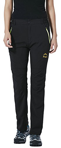 LancerPac Quick Dry Lightweight Women's Breathable Hiking Pants Outdoor Black XS