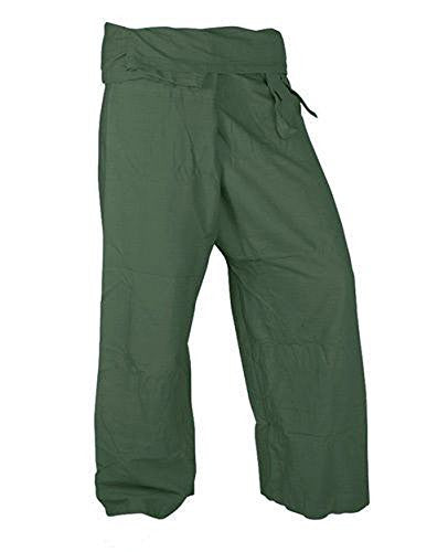 Beautiful Olive Pants Rayon Fabric Yoga Trousers Thai Fisherman Pants Free Size
