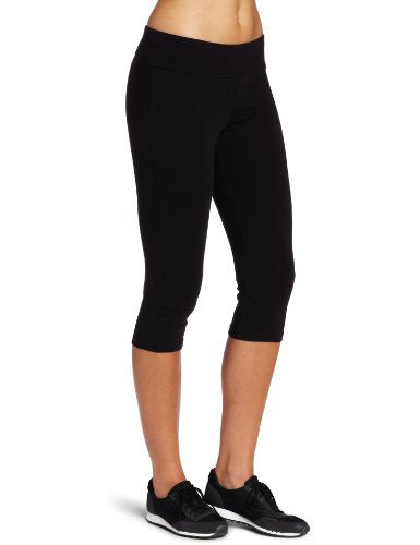Spalding Women's Essential Capri Legging, Black, Large